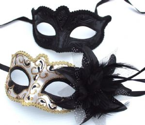 Black and Gold Masquerade Masks - His and Hers Masks | Masks and Tiaras